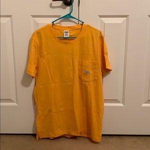 Yellow, PINK shirt sleeve. Never worn.